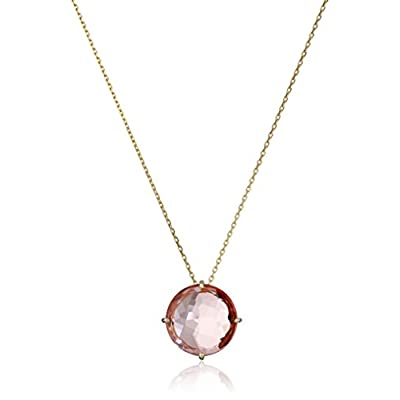 Kalan by Suzanne Kalan 14k Yellow Gold and Salmon Topaz Pendant Necklace for sale