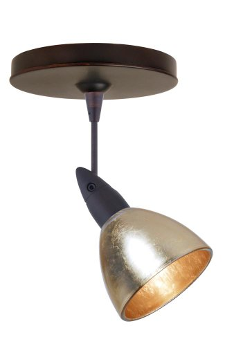 Besa Lighting 1SP-1758GF-BR 1X50W Mr16 Divi Spotlight Gold Foil Glass, Bronze Finish
