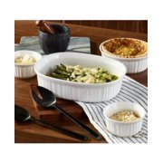 French White 8-Piece Round and Oval Baking Casserole Set Weight 9.75 POUNDS