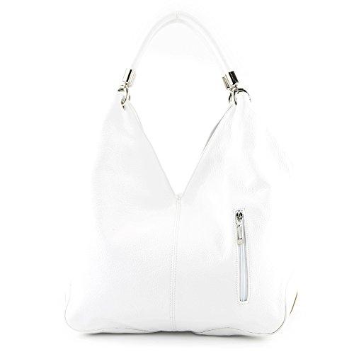 à Blanc à porter Blanc l'épaule femme Sac Made pour Italy P8qxw7nHI