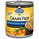 Nature's Recipe Grain Free Chicken & Turkey Stew Wet Dog Food, 10 oz