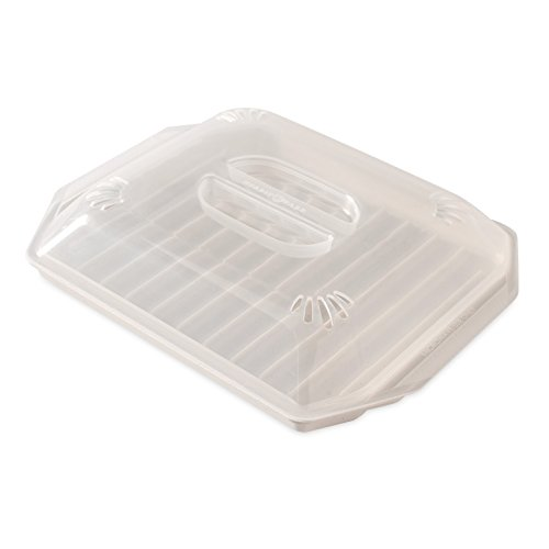 Nordic Ware 60109 Bacon Rack with Lid, 10.25x8x2 Inches