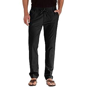 FRAUIT Pantaloni Uomo Lino Tasconi Pantaloni Ragazzo Slim Fit Elasticizzati Pantalone Uomini Casual Plus Size Oversize… 6 spesavip