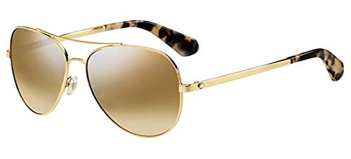 - Kate Spade New York Womens Avaline 2/S Gold Havana/Brown Gradient Mirror One Size One Size