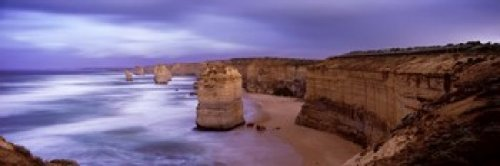 (Rock formations Twelve Apostles Sea Rocks Great Ocean Road Port Campbell National Park Port Campbell Victoria Australia Poster Print (36 x 12))