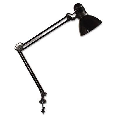 Opti Series Swing Arm Incandescent Lamp, 30 Inches Reach, Black