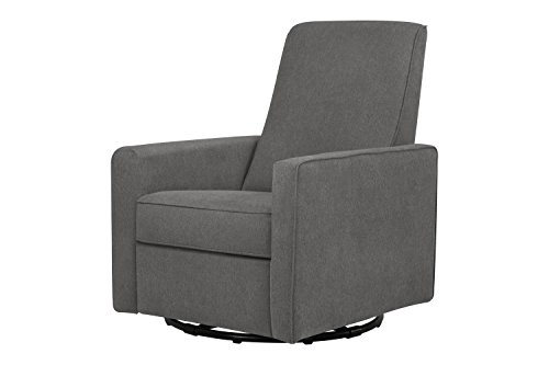DaVinci Piper All-Purpose Upholstered Recliner and Swivel Glider, Dark Grey