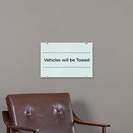 CGSignLab Vehicles Will Be Towed 5-Pack 18x12 Basic Teal Premium Brushed Aluminum Sign