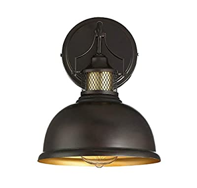 Trade Winds Lighting 2-Light Wall Sconce in Oiled Rubbed Bronze with Brass Accents