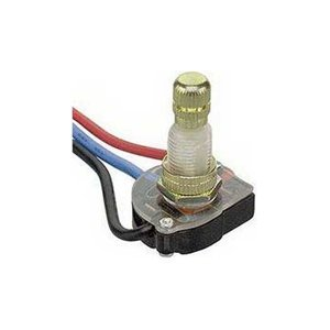 Rotary Canopy Switch w/ Stripped Wire Leads - 2 Circuit / 3-Way : 30-9160 -