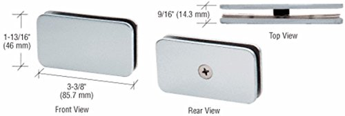 - CRL Satin Chrome 180 Degree Junior Traditional Style Fixed Glass Clamp for 1/4 G