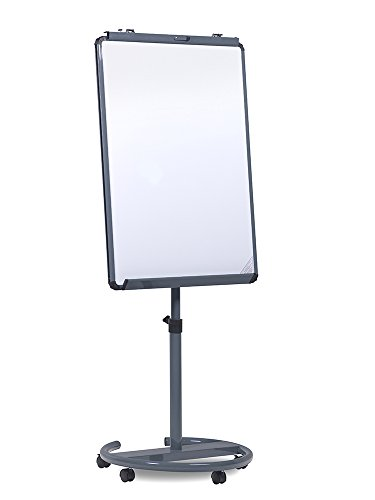 Spaceright Europe 68 x 90 cm Ultramate Mobile Flipchart Easel - Grey (Europe Chart)