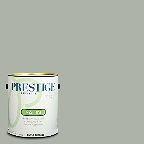 Prestige Paints P400-T-SW6206 Interior Paint and Primer in One, 1-Gallon, Satin, Comparable Match of Sherwin Williams Oyster Bay, 1 Gallon, SW191-Oyster ()