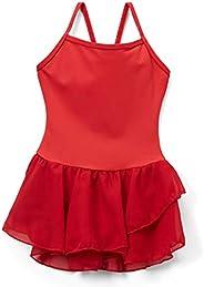 Elowel Kids Girls' Basic Cami Tutu Red Size