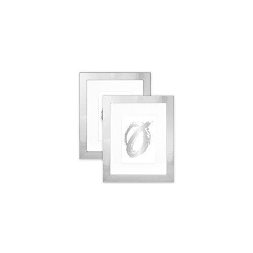 Parkwood Flat Basic- Set of 2, 8x10 Shiny Silver