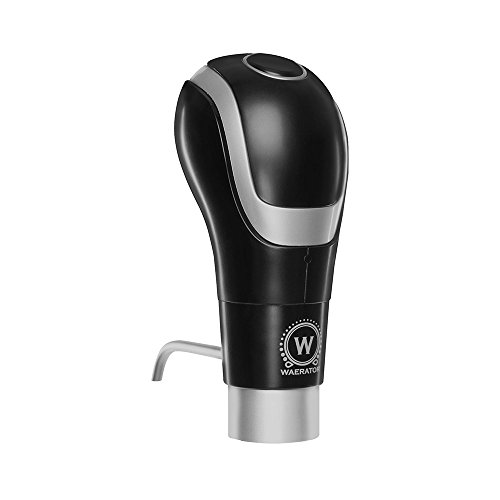 Instant 1-Button Aeration and Decanter WAERATOR Electric Wine Aerator: Enhance Wine Flavor of all Ages; Convenient Spout](Magic Wand Bottle Opener)