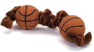 Coastal Pet Products DCP84205 Li'l Pals Plush and Vinyl Tug Dog Toy, Basketball, 8-Inch Coastal Lil Pals Toy