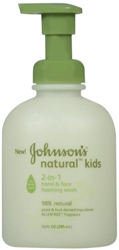Johnson's Kids Natural 2-in-1 Hand & Face Foaming Wash, 10 Ounce (Pack of 2) by Johnson's