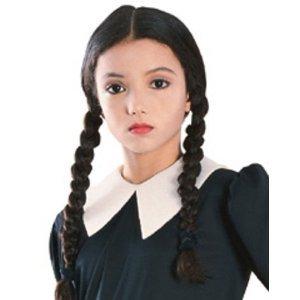 Child Wednesday Costume Wig