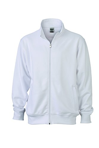Coreana Alla E Sweat Con Chiusura Felpa Colletto Giacca Lampo White Jacket In Workwear g1IqSnX