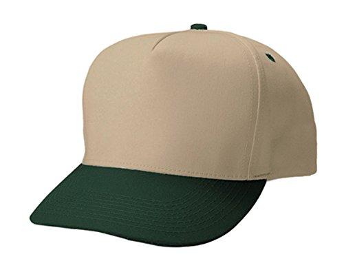 (G Men's 5 Panels Pro Style Twill Snapback Cap (Khaki Green))