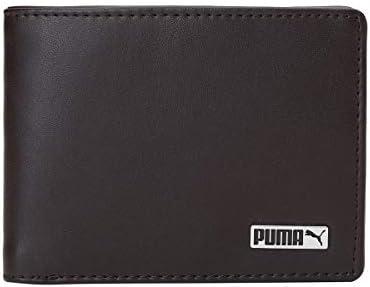 Puma unisex-adult PUMA Metal Logo Wallet IND I Tan-Metal Cat Travel Accessory- Billfold-X