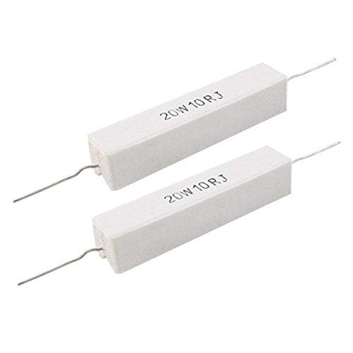 - YXQ 5% 20W Watt 10 Ohm Ceramic Cement Power Resistors 2 Pcs