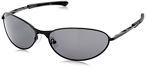 Eyewear Gargoyles Sunglasses - Gargoyles Outrider Polarized Oval Sunglasses, Matte Black & Smoke, 63 mm