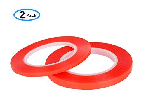 Runying 2 Rolls Double Sided Tape 3mm/5mm x 32.8 Feet, Acrylic Adhesive Tape Removable & Residue-Free, Ultra Transparent Heat Resistant, for LED Light Strips, LCD Screen and Cell Phone Repair (Best Cell Phone Screen)