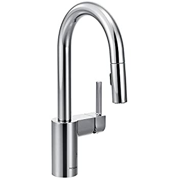 Moen Align OneHandle High Arc Pulldown Kitchen Faucet Chrome - Moen align kitchen faucet
