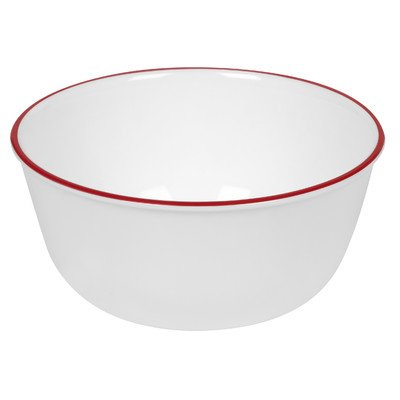 Livingware 28 oz. Memphis Soup/Cereal Bowl  Color: White/Red