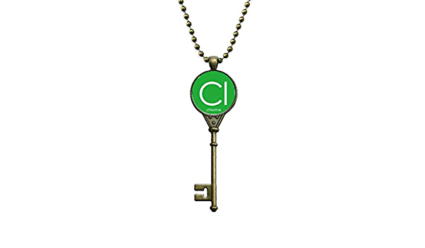 OFFbb-USA Chemistry Elements Period Table Halogens Element Fluorine F Necklaces Pendant Retro Moon Stars Jewelry