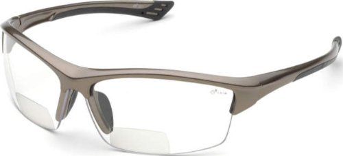 Elvex RX-350BR Sonoma Brown Polycarbonate BiFocal Safety / Fashion Glasses with +2.0 Diopters, Brown - Sunglasses Rx Safety
