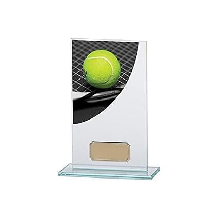 160 mm color curva tenis cristal trofeo, grabado gratis (cr4843b) TRD