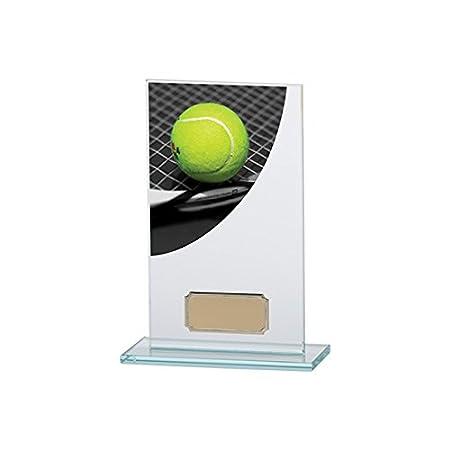 160 mm color curva tenis cristal trofeo, grabado gratis ...