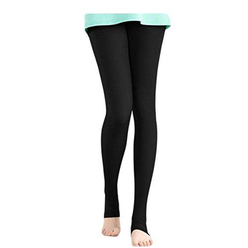 FANCY PUMPKIN Golf Sun Protection Golf Pants Cool Ice Silk Stocking Sport Leggings-Black