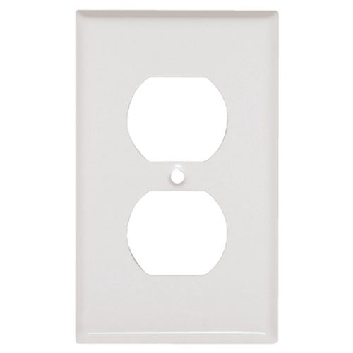 MULBERRY METALS 86101 WHT 1G DPLX Wall Plate
