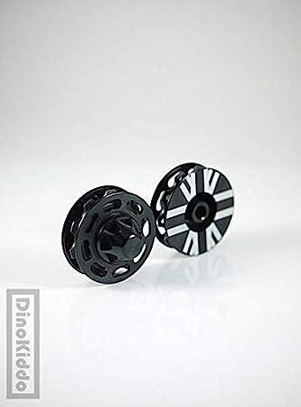Dino Kiddo - Poleas de Aluminio para Bicicleta Plegable Brompton, Color Negro