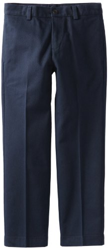 Brooks Brothers Big Boys' Uniform Plain Front Advantage Chino, Navy, 14 (Front Plain Uniform)