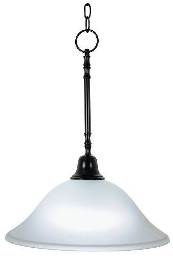 Monument 617238 Pendant Down Light Ceiling Fixture with One 40 Watt Compact Type Fluorescent Lamp, 15'', Oil Rubbed Bronze, 13.52'' x 13.52'' x 13.52'' by Unknown
