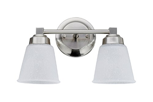 Aspen Creative 62069-1, Two-Light Metal Bathroom Vanity Wall Light Fixture, 13 1/8