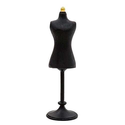 Odoria 1:12 Miniature Dress Form Mannequin (Black) Dollhouse Decoration Accessories