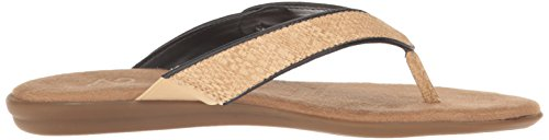 Aerosoles A2 Womens Chlear Sailing Flip Flop Black/Gold Combo X2ZNT