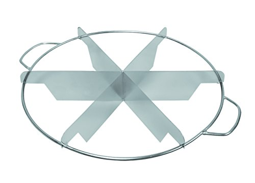 Update International PIEC-6 Stainless Steel Pie Cutter, 6 Slice, Non Magnetic S ()