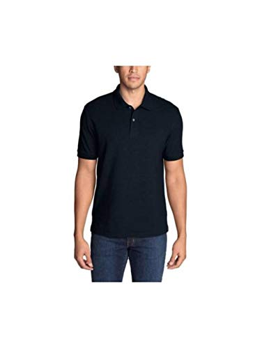 Eddie Bauer Men's Classic Field Pro Short-Sleeve Polo Shirt, Midnight Navy Tall