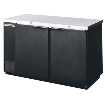 Beverage-Air DZ58-1-B Dual-Zone Solid Door Back Bar with two independent compartments that allow separate temperatures in each section in by Beverage Air