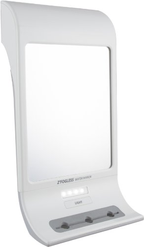 (Zadro Fogless LED Lighted Touch Water Mirror, White)