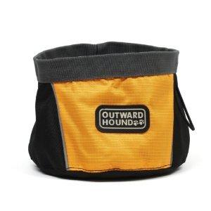 Kyjen Outward Hound Port-a-Bowl, Orange, 48-Ounce For Sale