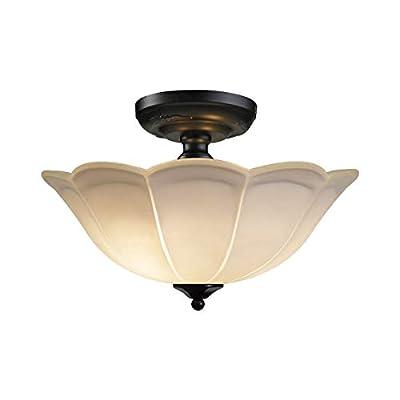 "ELK Lighting 66380/3 Close-to-Ceiling-Light-fixtures, 11 x 15 x 15"", Black"