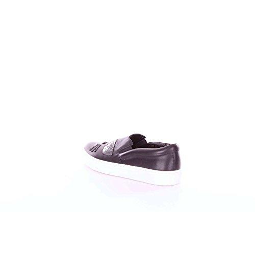 Nero Sneaker Donna Slip Kupsole Karl Choupette Lagerfeld Toe qYWw40g